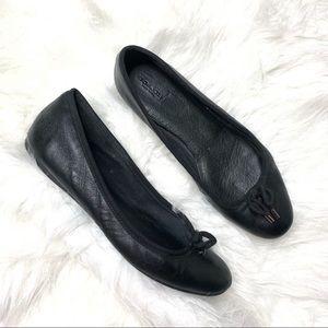 Coach black ballet flats size 9